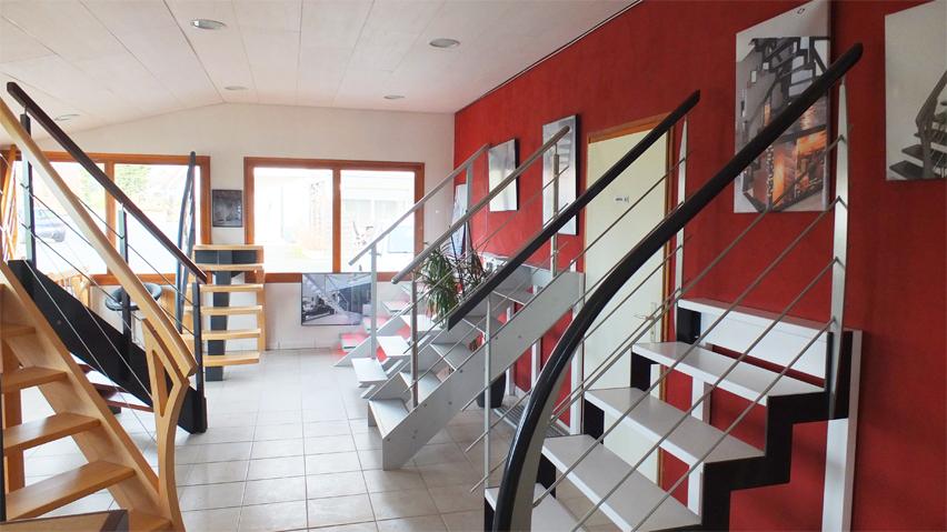 Le showroom d'Ambiance Escalier à Buhl