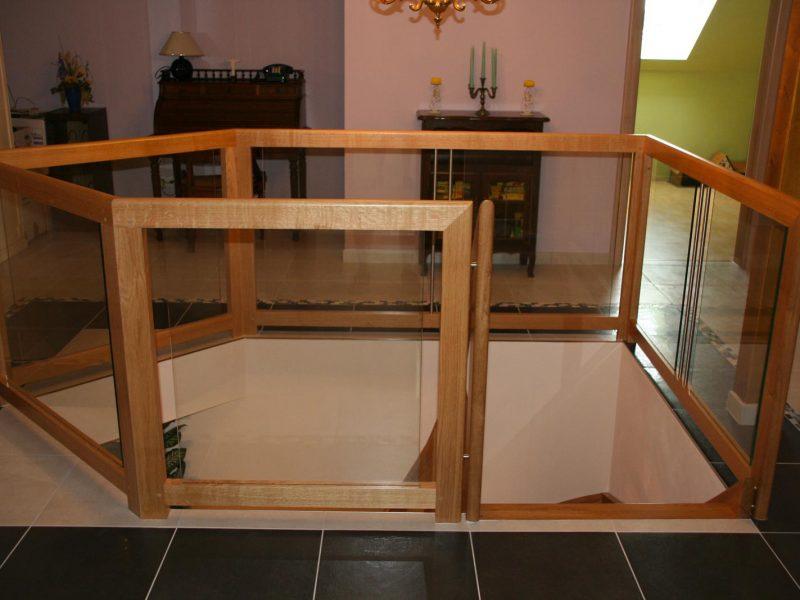 Rambarde Escalier classique bois en Alsace