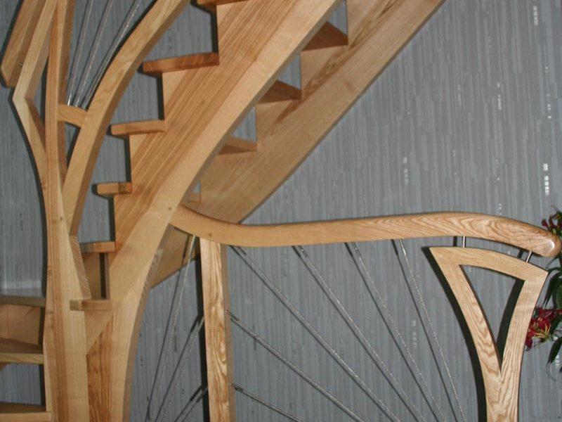 Escalier classique bois en Alsace