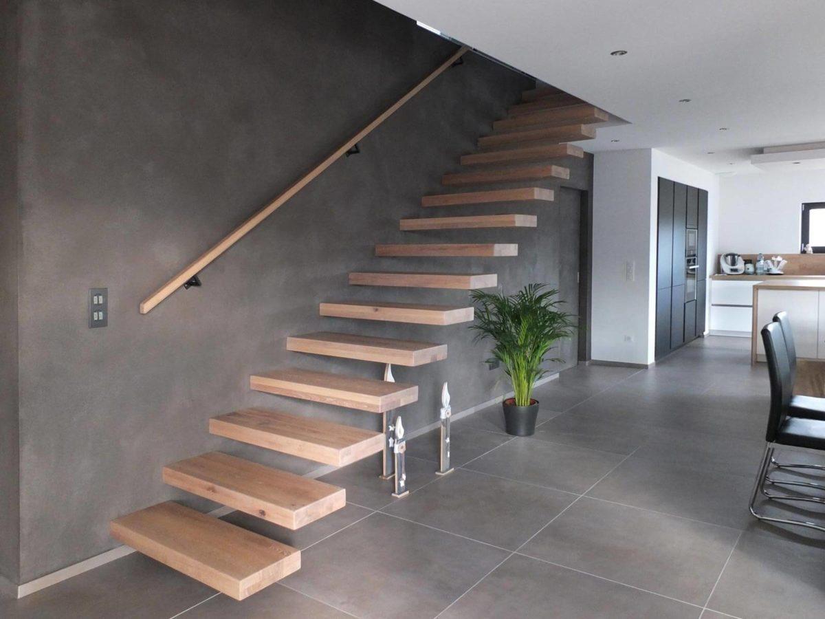 Escalier autoportrait réalisé en Alsace par Ambiance Escalier
