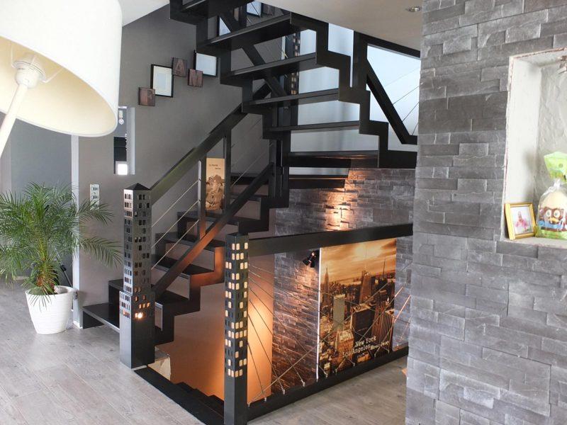 Escalier moderne en Alsace