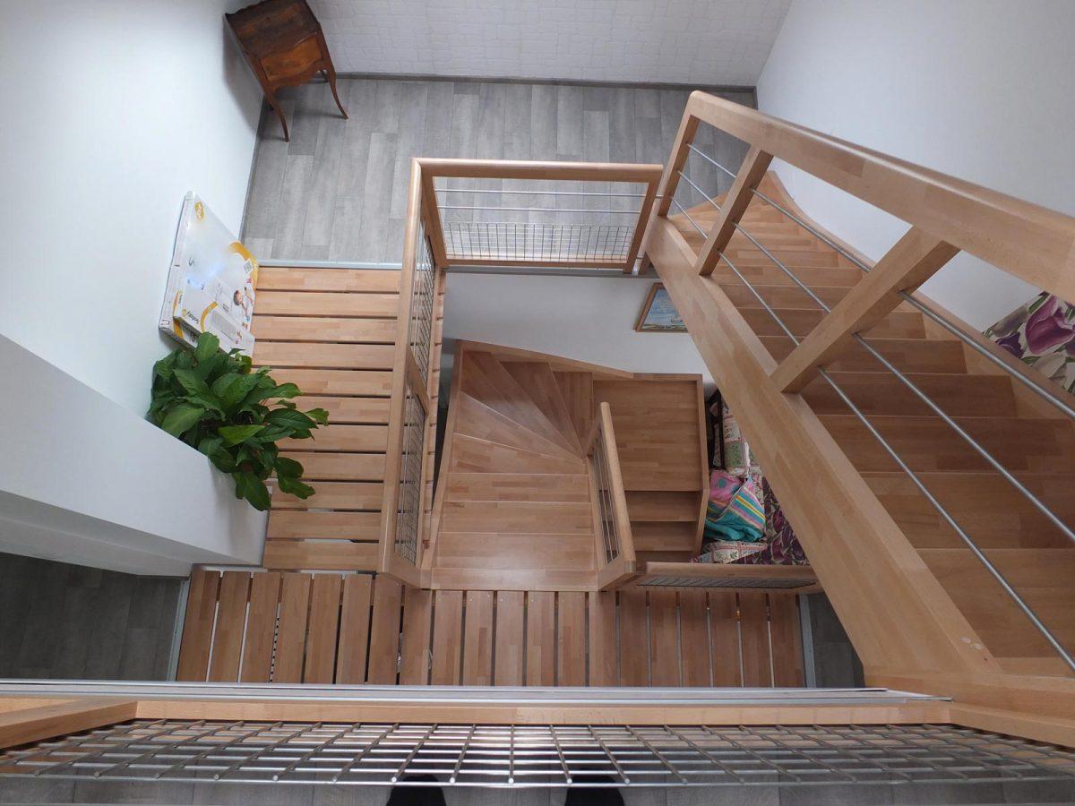 Escalier bois design en Alsace