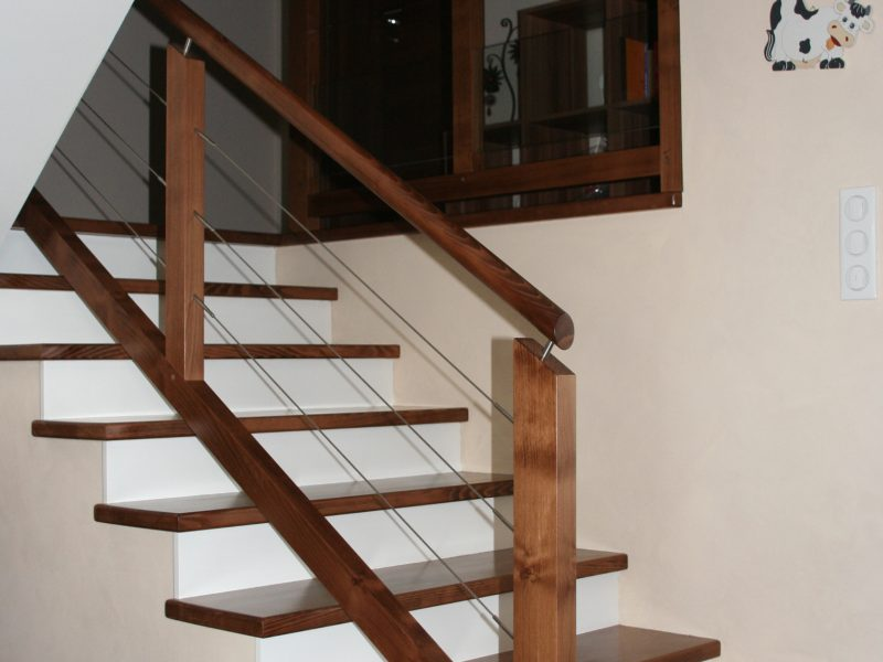 Habillage Escalier bois en Alsace
