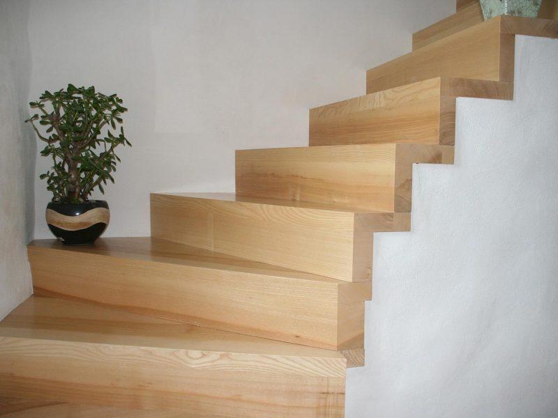 Habillage Escalier moderne bois en Alsace