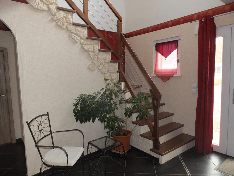 Habillage Escalier classique bois en Alsace