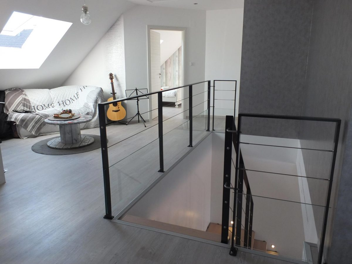 Rambarde Escalier metal design en Alsace