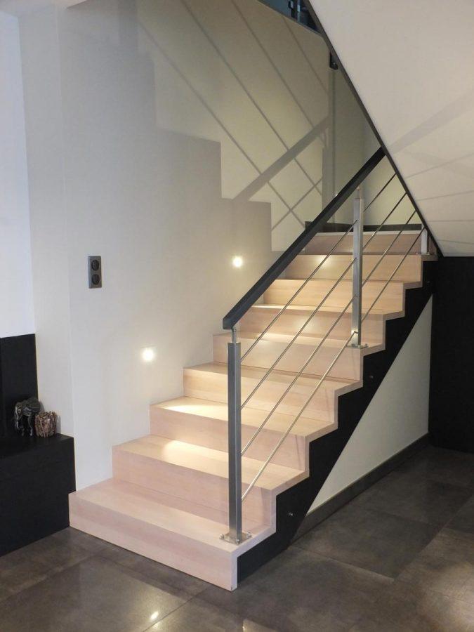Rembarde Escalier bois en Alsace