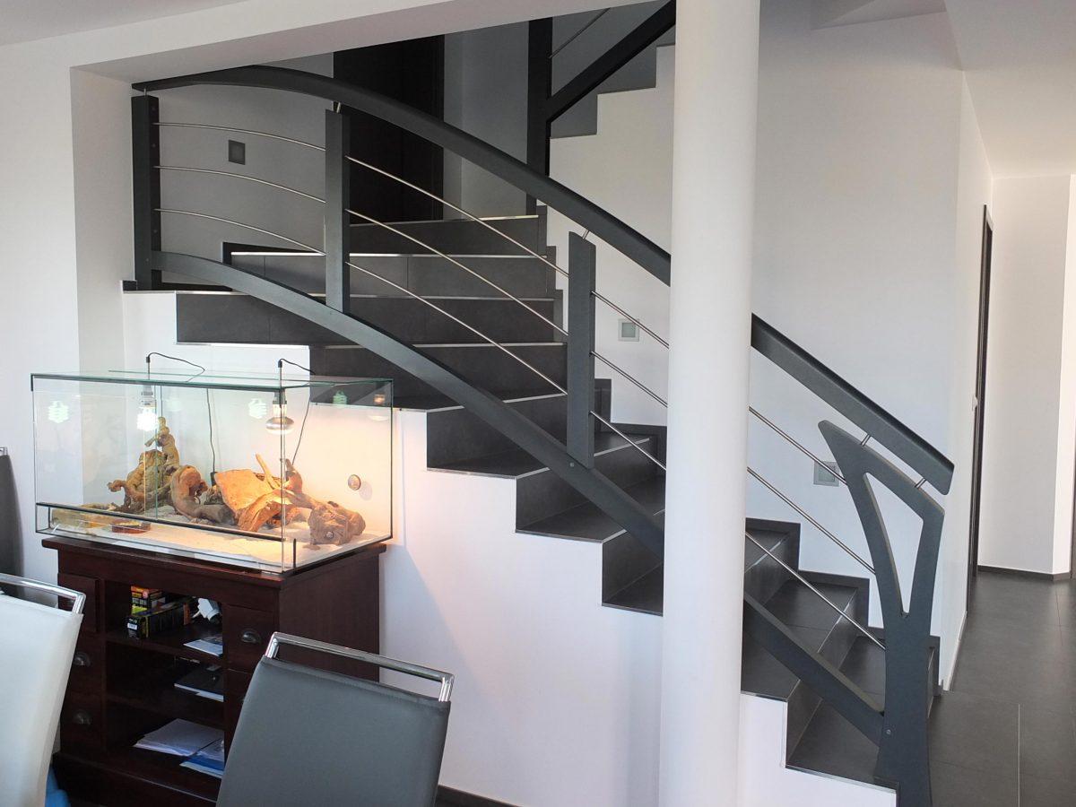 Rembarde Escalier courbe en Alsace