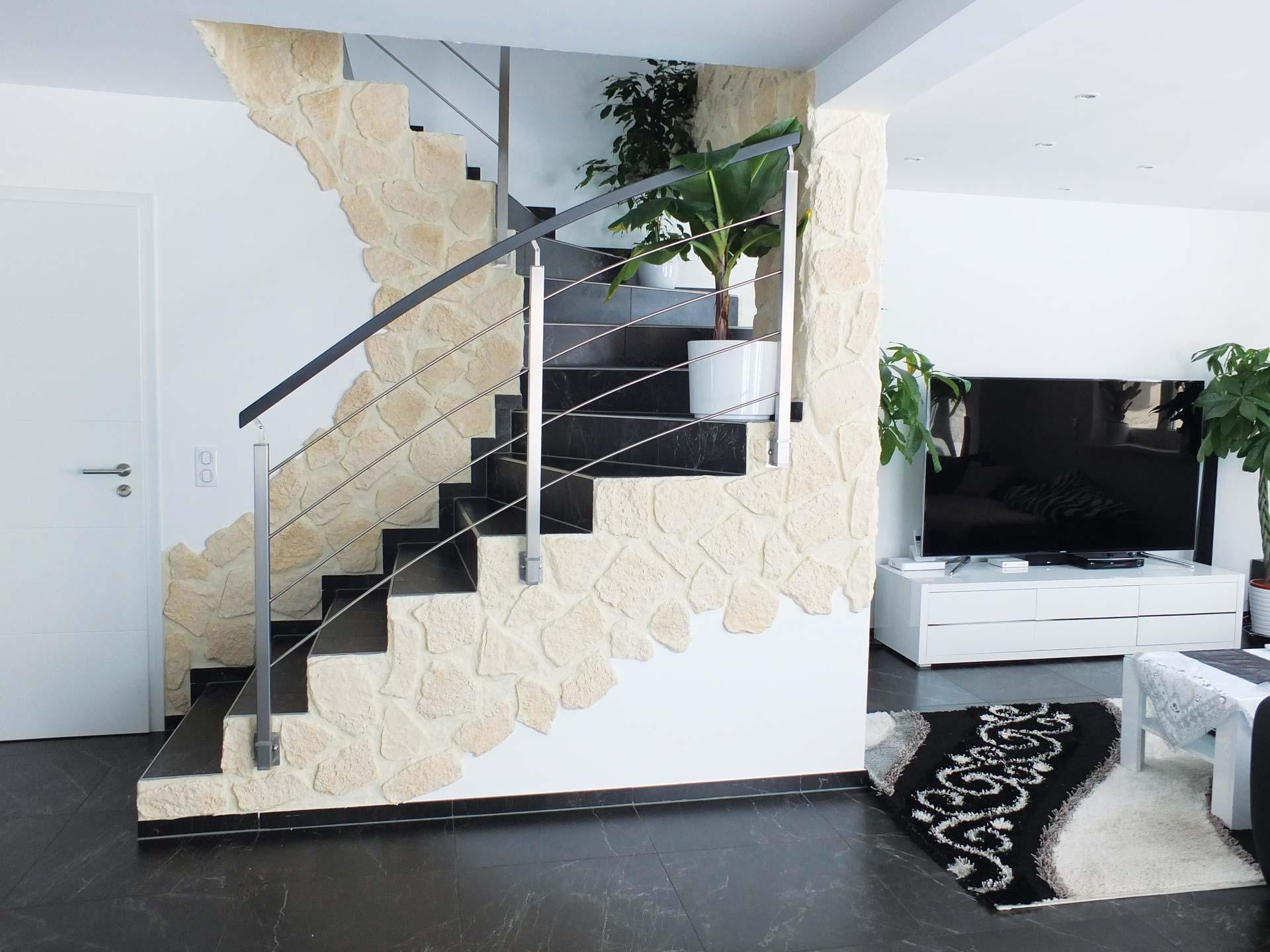 Rambarde réalisé par Ambiance Escalier sur escalier béton