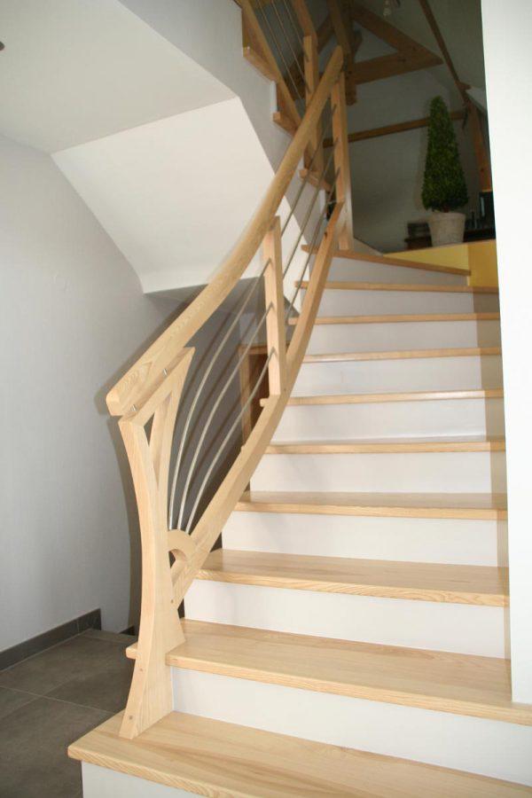 Rambarde d'escalier courbe en Alsace