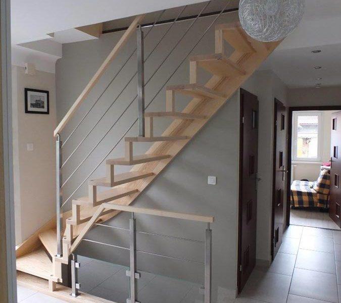 Escalier à limon bois