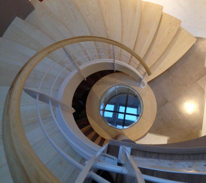Escalier à limon circulaire