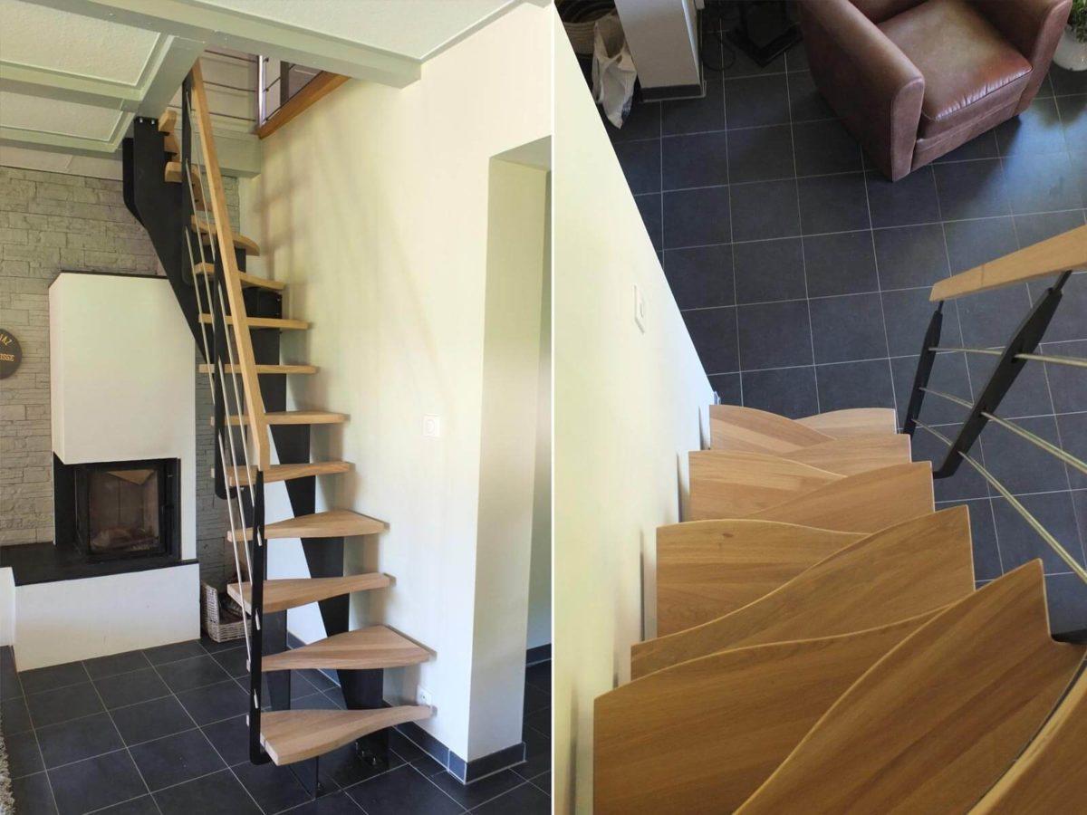 Escalier à limon fabrication en Alsace