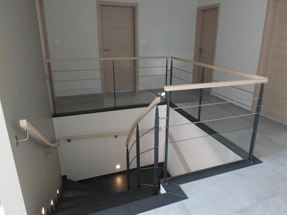 Garde corps d'escalier réalisé en Alsace
