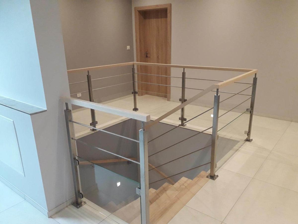 Garde corps d'escalier moderne réalisé en Alsace