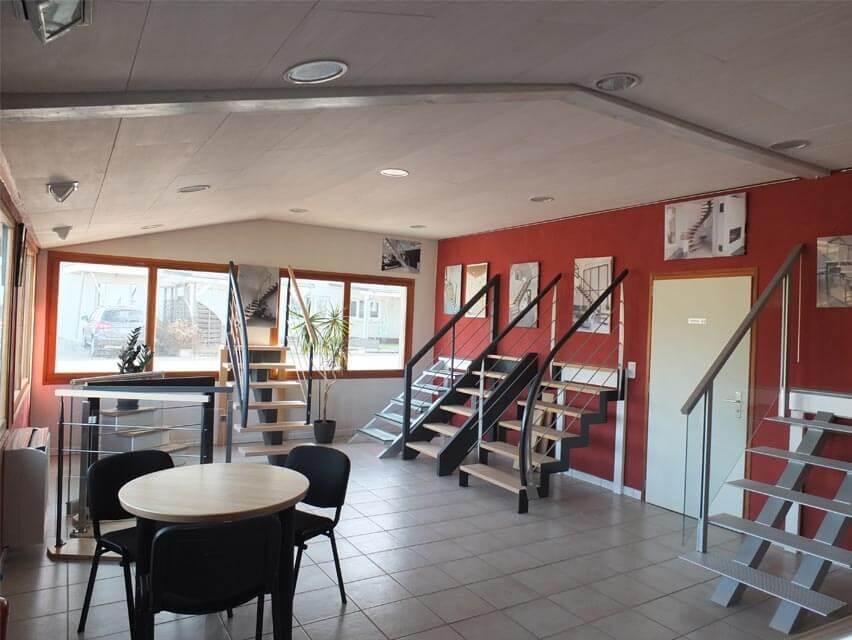 Le showroom d'Ambiance Escalier à Buhl dans le Bas-Rhin